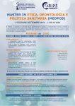 Master in Etica, Deontologia e Politica Sanitaria (MEDPOS)- I ed. settembre 2019/luglio 2020