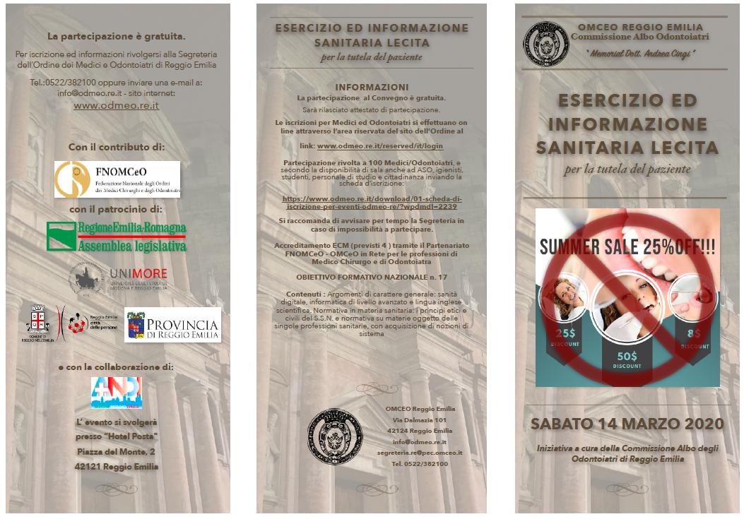ESERCIZIO ED INFORMAZIONE SANITARIA LECITA per la tutela del paziente