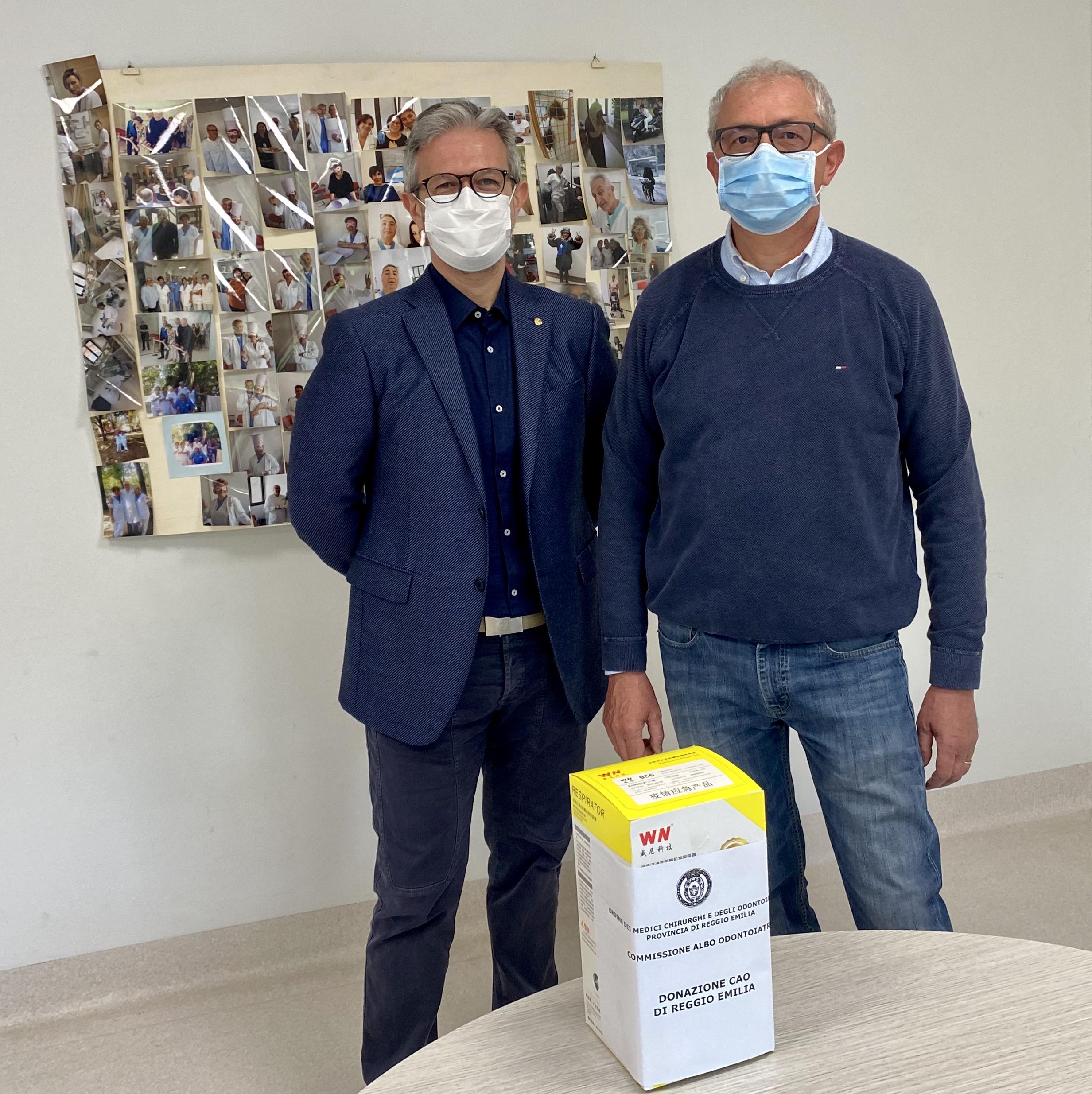 Donazione mascherine agli Odontoiatri AUSL di Reggio Emilia