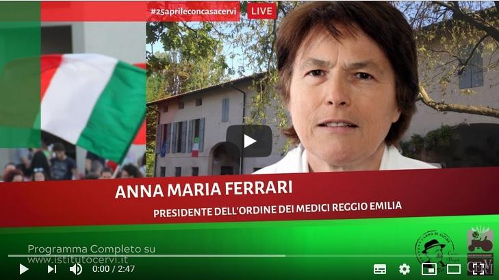 Video messaggio della Presidente in occasione del 25 Aprile