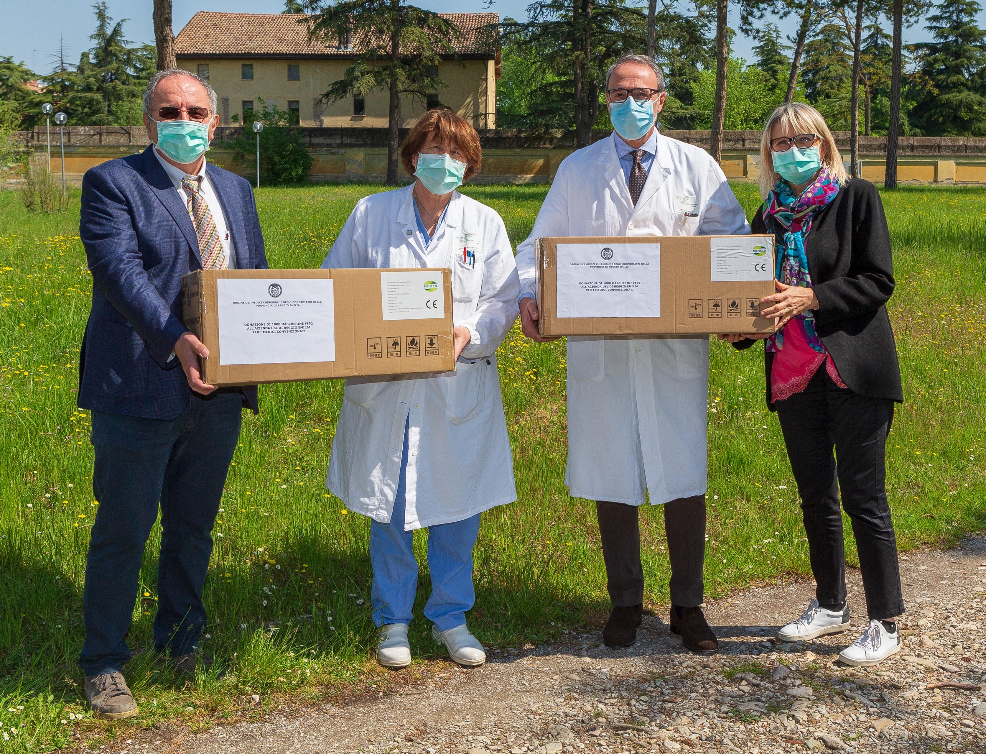 COVID-19. La solidarietà dell'Ordine dei Medici Chirurghi e degli Odontoiatri di Reggio Emilia: donazione all'Azienda USL di R.E. –  IRCCS